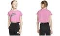 Nike Big Girls Cotton Logo-Print Cropped T-Shirt