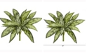 Nearly Natural 10in. Variegated Silver Queen Artificial Plant Set of 6