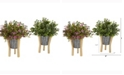 Nearly Natural 13in. Eucalyptus and Sedum Artificial Plant in Tin Planter with Legs Set of 2