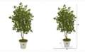 Nearly Natural 53in. Oak Artificial Tree in Decorative Planter