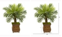 Nearly Natural 27in. Robellini Palm Artificial Tree in Metal Planter