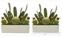 Nearly Natural 26in. Succulent Garden Artificial Plant in White Planter