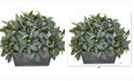 Nearly Natural 13in. Olive with Berries Artificial Plant in Embossed Tin Planter