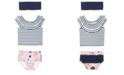 RuggedButts RuffleButts Toddler, Little and Big Girls Ruffled Tankini 2-Piece Swimsuit Swim Headband Set
