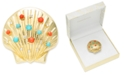 Charter Club Gold-Tone Pavé & Multicolor Bead Seashell Pin, Created For Macy's