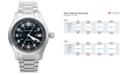 Hamilton Watch, Men's Swiss Automatic Khaki Field Stainless Steel Bracelet 38mm H70455133