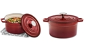 Martha Stewart Collection 4-Qt. Enameled Cast Iron Round Dutch Oven, Created For Macy's
