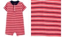 Carter's Baby Boys Striped Henley-Neck Textured Cotton Romper