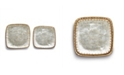 Two's Company Woven Laces Capiz Shell Square Trays - Set of 2