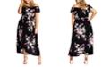 City Chic Trendy Plus Size Off-The-Shoulder Floral Maxi Dress