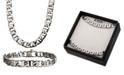 "INOX Mariner Link 8"" Bracelet and 22"" Necklace Set"