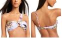 Bar III Printed One-Shoulder Bikini Top, Created for Macy's
