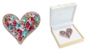 Charter Club Rose Gold-Tone Multi-Crystal Heart Pin, Created for Macy's