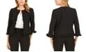 Kasper Petite Ruffled Stretch Crepe Jacket