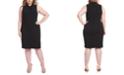 RACHEL Rachel Roy Trendy Plus Size Harland Twist-Neck Sheath Dress