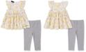 Calvin Klein Baby Girls 2-Pc. Printed Ruffle Tunic & Leggings Set