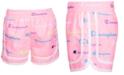 Champion Toddler Girls Varsity Allover Multi-Color Script Logo Woven Shorts