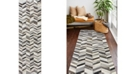 """BB Rugs Leather H112 Gray 2'6"""" x 8' Runner Rug"""