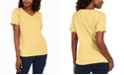 Karen Scott Plus Size Scallop-Trim Cotton Top, Created for Macy's
