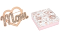 Charter Club Rose Gold-Tone Crystal Mom Heart Pin, Created for Macy's