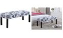 Us Pride Furniture Sherri Upholstered Decorative Bench