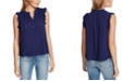 1.STATE Smocked Ruffled Top