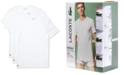 Lacoste Men's Essential Cotton Crew Neck Undershirt Set, 3-Piece