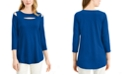 Alfani Front-Cutout Cold-Shoulder Top, Created for Macy's