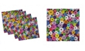 "Ambesonne Flower Set of 4 Napkins, 12"" x 12"""