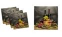 "Ambesonne Winery Set of 4 Napkins, 12"" x 12"""