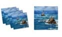 "Ambesonne Lighthouse Set of 4 Napkins, 12"" x 12"""