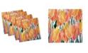 "Ambesonne Tulip Set of 4 Napkins, 12"" x 12"""