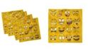 """Ambesonne Emoji Set of 4 Napkins, 12"""" x 12"""""""