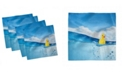 """Ambesonne Rubber Duck Set of 4 Napkins, 12"""" x 12"""""""