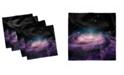 "Ambesonne Galaxy Set of 4 Napkins, 12"" x 12"""
