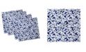 "Ambesonne Hand Drawn Flora Set of 4 Napkins, 12"" x 12"""