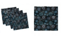 """Ambesonne Star and Flower Set of 4 Napkins, 12"""" x 12"""""""