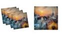 "Ambesonne Sunset Set of 4 Napkins, 12"" x 12"""