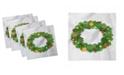 "Ambesonne Christmas Set of 4 Napkins, 12"" x 12"""
