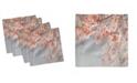 "Ambesonne Japanese Flower Set of 4 Napkins, 12"" x 12"""