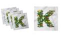 "Ambesonne Letter K Set of 4 Napkins, 12"" x 12"""