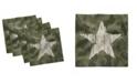 "Ambesonne Camouflage Set of 4 Napkins, 12"" x 12"""