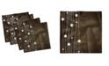 "Ambesonne Dots Lines Vintage-Like Set of 4 Napkins, 12"" x 12"""