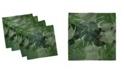 "Ambesonne Camo Palm Leaves Set of 4 Napkins, 12"" x 12"""