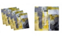 """Ambesonne Abstract Painting Set of 4 Napkins, 12"""" x 12"""""""