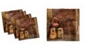 "Ambesonne Music Set of 4 Napkins, 18"" x 18"""