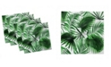 "Ambesonne Palm Leaf Set of 4 Napkins, 18"" x 18"""