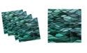 """Ambesonne Stained Glass Set of 4 Napkins, 18"""" x 18"""""""