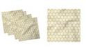 "Ambesonne Hexagonal Comb Set of 4 Napkins, 18"" x 18"""