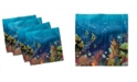 """Ambesonne Under the Sea Set of 4 Napkins, 18"""" x 18"""""""